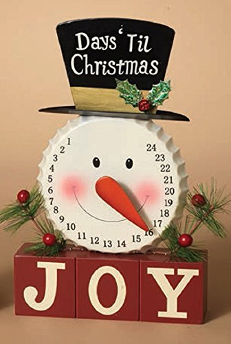 Gerson Snowman Joy Days Till Christmas Countdown ()