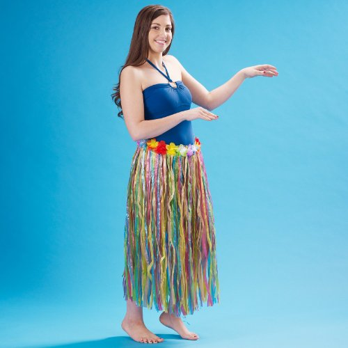 Hula Halloween Skirt (Beistle 50490-MC Adult Artificial Grass Hula Skirt, 36 by 32-Inch)