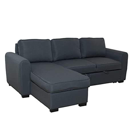 Itamoby, Sofá Dally con Chaise Longue, Tejido Gris Oscuro, 3 ...