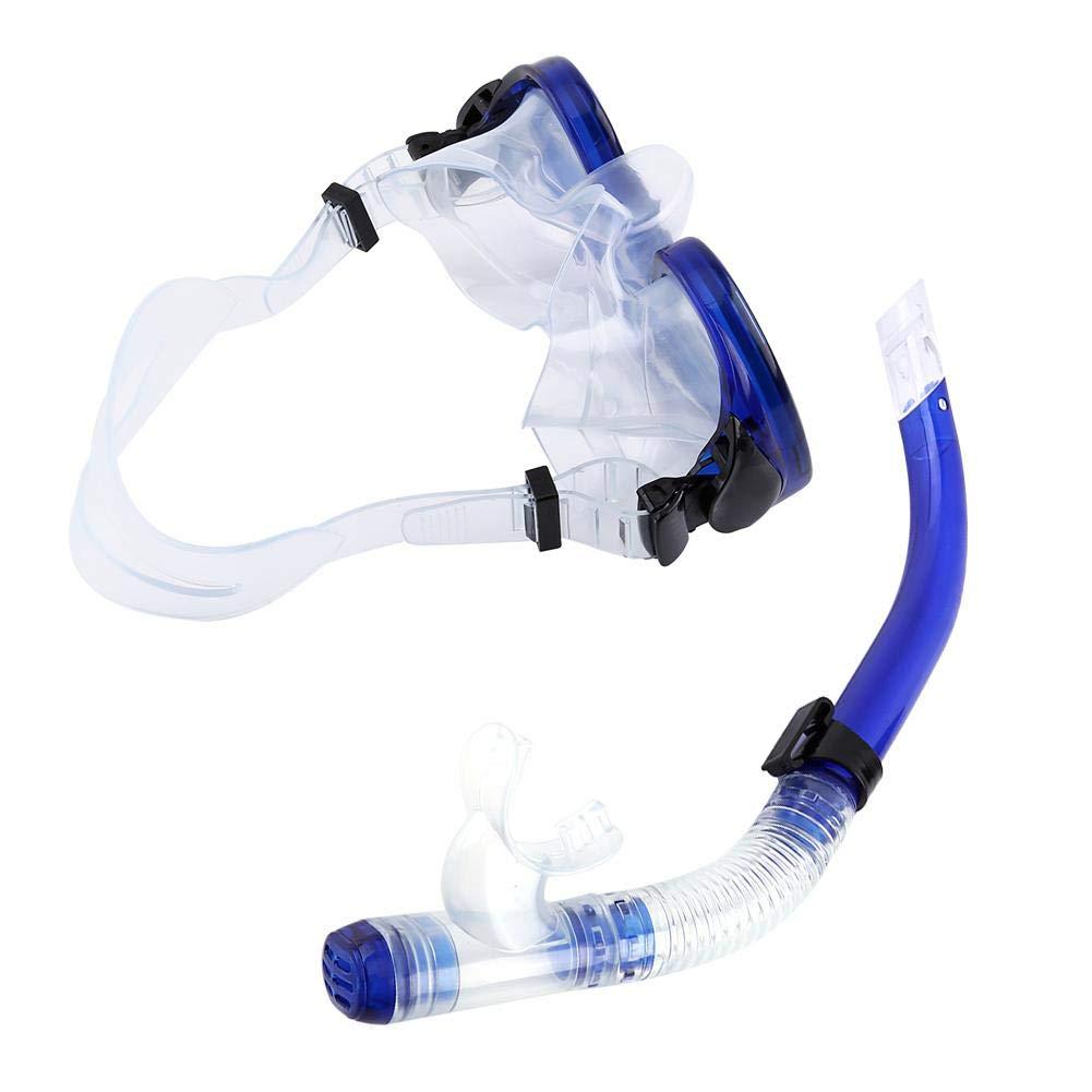 Adult Diving Snorkel Set Tempered Glass Semi-dry Kids Snorkel Set Diving Set for Boys and Girls Anti-Leakage Snorkel and Mask Set