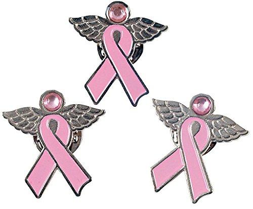 Pink Ribbon Angel Pin (1 dozen) - Bulk [Toy]