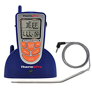 Cooking Thermometers Wireless Remote Oven Meat Thermometer Count-Down Up Kitchen Cooking Timer