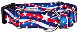 Country Brook Petz 1 1/2 Inch Star Spangled Martingale With Deluxe Buckle - Medium