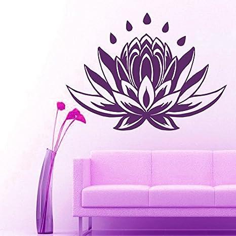 Amazon.com: pared calcomanías flor de loto meditación Yoga ...