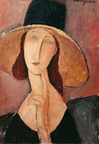 "Reproduction d'Art: Amedeo Modigliani ""Portrait of Jeanne ..."