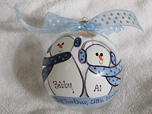 Ornament Personalized Big Brother (Big Brother, Little Brother - Personalized Christmas ornament)