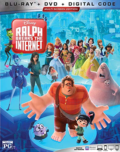 RALPH BREAKS THE INTERNET [Blu Ray + DVD + Digital Copy] [Blu-ray] (Ralph Movie)