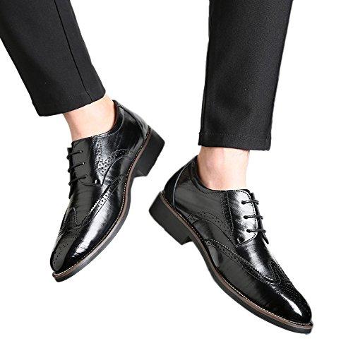 Hollow Punta Los De Clasico Casual Negro Business De Transpirable Hombres Estilo ALIKEEYEl Zapatos qYSHPP