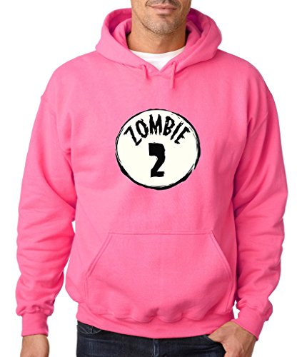 [Halloween Zombie #2 Group Costume Hoodie Funny Halloween Sweatshirt 3XL Safety Pink h14] (Costume Ideas For Day Of The Dead)