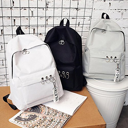 White Backpack for TOPUNDER Fashion Travel Ring 2018 Satchel Shoulder Bookbags Decoration Women by UfUx7wTq0