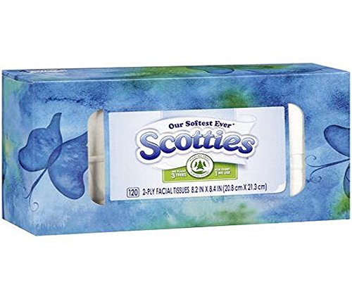 Price comparison product image Scotties 2-Ply Facial Tissues,  120-ct. Boxes,  6 Family Boxes