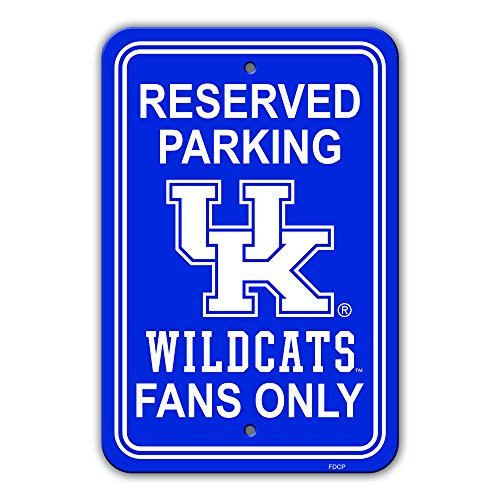 (NCAA Kentucky Wildcats Plastic Parking Sign Plastic Sign, Blue,)