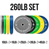 Best Olympic Bumper Plates - Color Bumper Plate Sets/Virgin Rubber w/Steel Insert/Low Odor Review