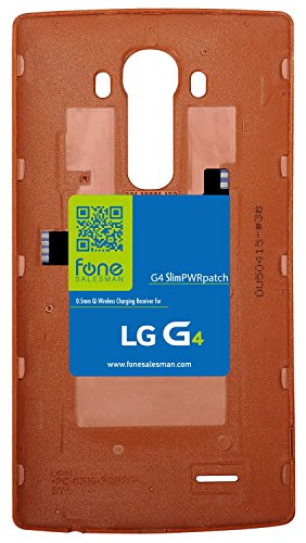 G4 SlimPWRpatch - Ultra Thin Qi Wireless Receiver NFC Antenna Sticker Card Patch Module for LG G4. Compatible with Verizon, T-Mobile, Sprint. Recommended to use with QiStone+, WoodPuck or KoolPad (Wireless Charging Back Lg G3)