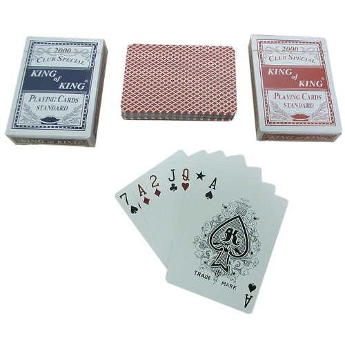 Trademark Poker 2 Decks-Club Special King Of King Playing Cards ()