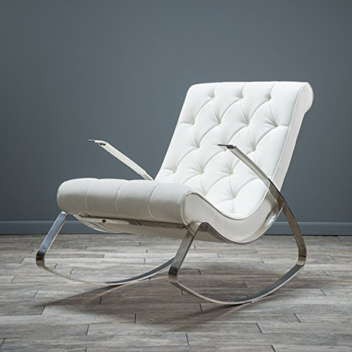 Barcelona Leather Lounge Chair - Barcelona-City Modern Design Rocking Lounge Chair