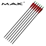 """Ruixunte 33"""" Archery Turkey Feather Mixed Carbon Arrows for Hunting Bow Spine 500"""