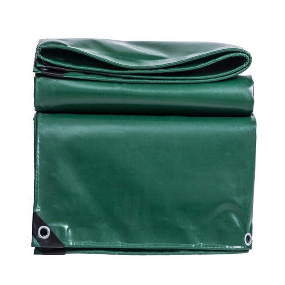 DALL ターポリン タープ 両面 防水 サンシェード アウトドア キャンプ シェードカバー 530g /m² (色 : Green, サイズ さいず : 3*6m) 3*6m Green B07KV9FD7P