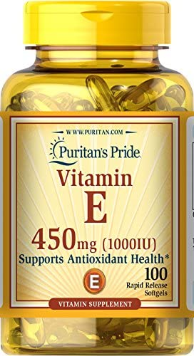 Vitamin E 1000 IU for Immune and Healthy Skin Support by means of Puritan's Pride For Immunity Support 100 Softgels