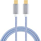 Type USB C-C Cable, CableCreation 10ft Braided USB 2.0 Type C (USB-C) to Type C Data Charging Cable(3A) for Apple Macbook(Pro), Nintendo Switch, Chromebook Pixel, Nexus 5X/6P, etc (Blue)