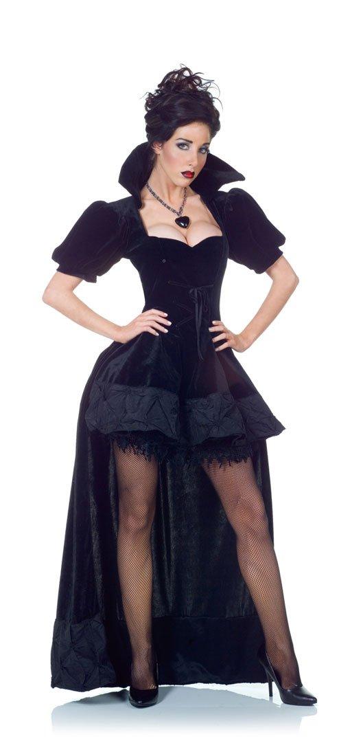Horror-Shop Schwarze Königin Königin Königin Kostüm Premium mit Umhang für Halloween XL b1371c