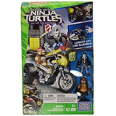 Mega Bloks Teenange Mutant Ninja Turtles: Out of The Shadows Bebop Moto Attack Playset: Toys & Games