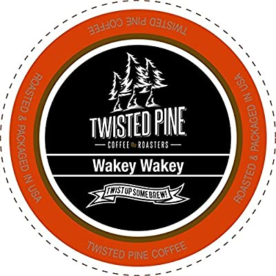 Twisted Pine Coffee Wakey Wakey, Super Charged Medium Roast, Single-Serve Cups for Keurig K-Cup Brewers, 80 Count