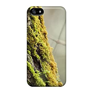 Iphone 5/5s TDrJYUQ7279ZWATa Moss On The Bark Tpu Silicone Gel Case Cover. Fits Iphone 5/5s