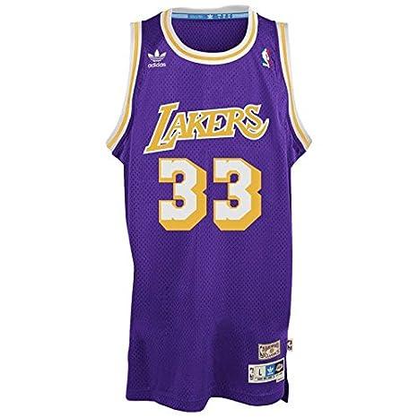 Amazon.com: Kareem Abdul-Jabbar Los Angeles Lakers Adidas ...