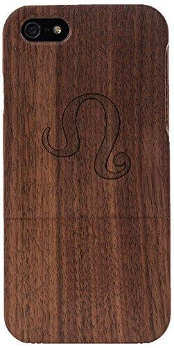 Woodero signe du zodiaque lion en bois véritable pour apple iPhone 5/5S