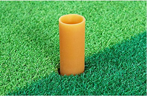 Running Raccoon Uni Turf Golf Mat with Removable Rubber Tee Holder, 12 x 24 inch Grass Practice Hitting Putting Mat, Portable Turf for Indoor and Outdoor Use, Training Equipment for Backyard Garage