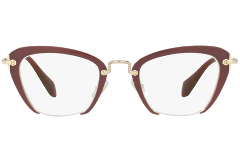 MIU MIU Eyeglasses MU 54OV UA51O1 Amaranth 47MM at Amazon Men\'s ...