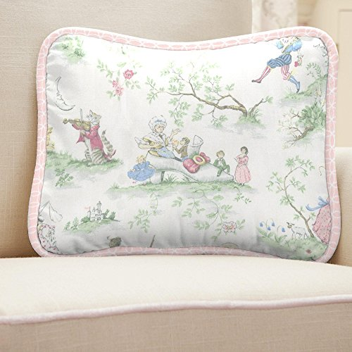 Carousel Designs Pink Over the Moon Toile Decorative Pillow Rectangular by Carousel Designs