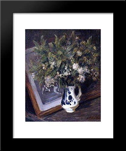 Flowers in a Delft Jug 20x24 Framed Art Print by Julian Alden Weir
