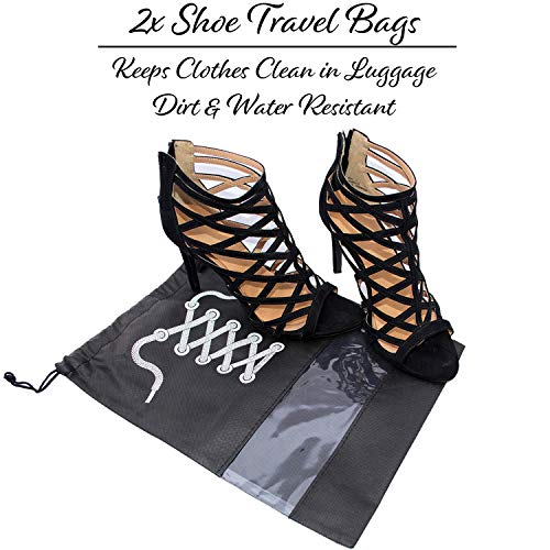 Travel Jewelry Organizer Carrying Case - PLUS Shoe Bags. Hanging Holder and Storage For Accessories by Endlessly Wanderlust (Image #6)