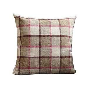 Amazon.com: XXT-pillow Plaid Fabric Pillow Pillow Home ...