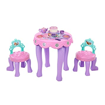Disney Sofia the First Tea Table u0026Amp; Chair Set  sc 1 st  Amazon.com & Amazon.com : Disney Sofia the First Tea Table u0026Amp; Chair Set : Baby