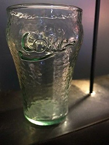 (Coca Cola Glasses Set of 1 Coke Glass Jumbo 32 oz Genuine Green Pebbled Vintage As Timeless as They are Functional! COCA COLA COLLECTIBLE Inspired Made in USA. Embossed Coca-Cola Logo.A Classic Bell )