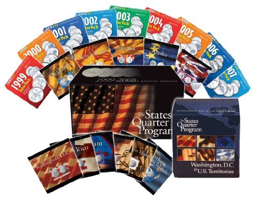 Complete 56 Statehood Quarter Coin Collection by Coins of America