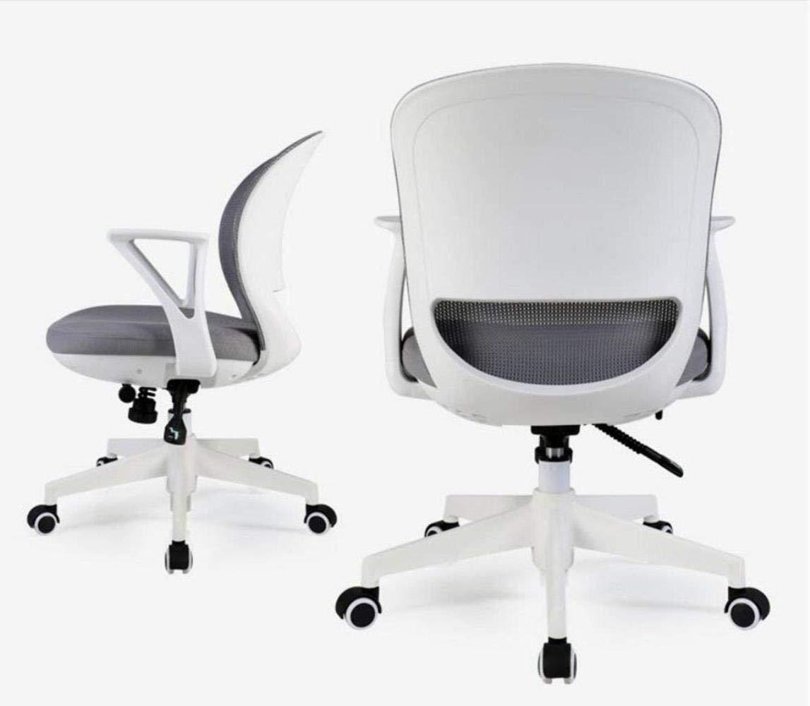 THBEIBEI svängbar stol spelstol uppgift skrivbordsstol datorstol, nät kontorsstol hem kontor roterbar 360° kan lyft (färg: Grön) Gray