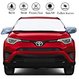Car Windshield Sun Shade Cover - Size Fits Car, Small & Midsize SUV, Van or Automobile - Reflective Fabric Blocks Sun Keeps Your Vehicle Cool Windshield Sunshade (58' x 40')