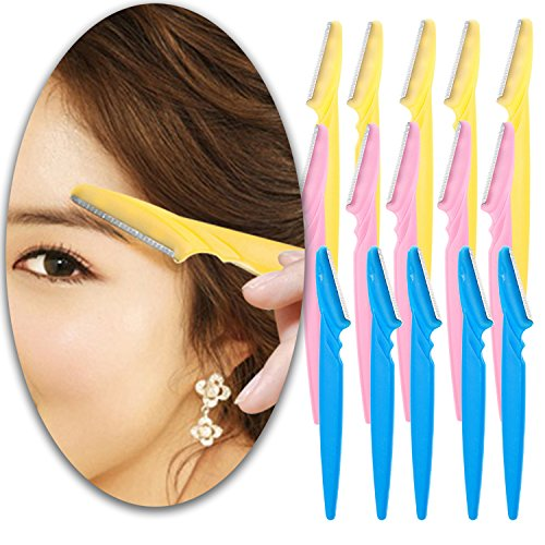 Make Up Beauty Set Kit of 15pcs Lady Eyebrows Razors Eyes Brows Shavers Trimmer Groomers Shaving Trimming Grooming Tools