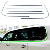 Baodiparts Stainless Steel Car Bottom Window Frame Sill Cover Trim Decorative Moulding Cover Trim 6-pack