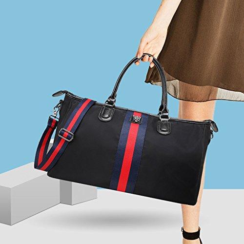 bigforest Fashion Große Kapazität mit Schleife Appliqu ¨ ¦ klein Reisetasche Weekend Duffel Tasche Handtasche für Shopping, Strand, Sport, Gym schwarz schwarz Klein