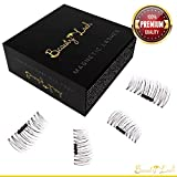 Magnetic False Eyelashes give you luxurious Length and Volume from daytime to evening wear. No Glue & Mess Free, Natural, Beautiful Look and Ultra Thin 3D Reusable Lashes take only second to apply.