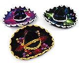 """5"""" Mexican Decorative Mini Charro Sombrero Felt Hat 3 Pack Fiesta Assortment Mariachi"""