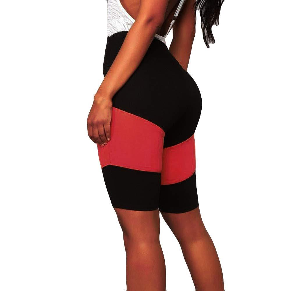 Nevera Patchwork Yoga Running Bike Gym Active Shorts Power Flex High Waist Tummy Control Pants Red
