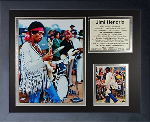 "Legends Never Die Jimi Hendrix Woodstock Collage Photo Frame, 11"" x 14"""