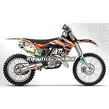 Kungfu Graphics Motocross Decal Design, Standard Trim Kit for KTM 125 150 250 350 450 SX SXF XC XCF 2011 2012, 3M Quality Vinyl, Added Sponsor Logo