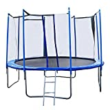 Net W/ Spring Pad Ladder,14 FT Round Trampoline with Enclosure